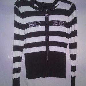 Bcbg maxazria long sleeve zipper up sweater